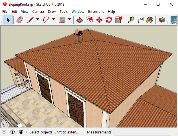 How do you get roof tile directions aligned to the slope of